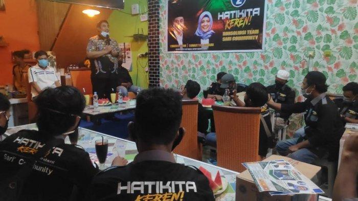Kukuhkan Relawan Sari Community, Irfan AB Optimis Menangkan Chaidir Syam dan Suhartini Bohari