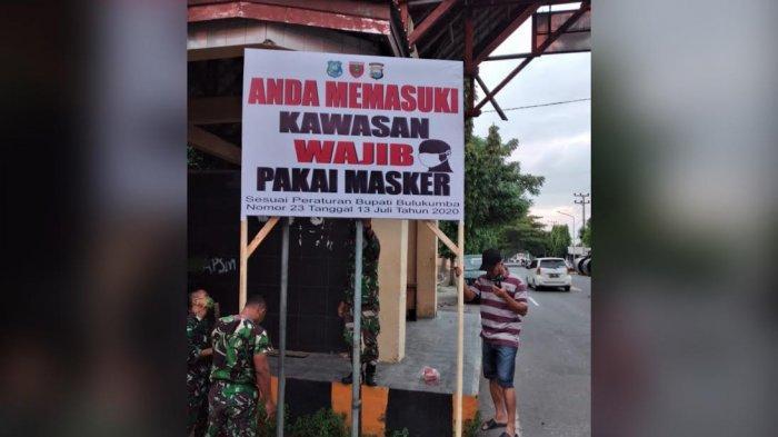 Kota Bulukumba Ditetapkan Wilayah Wajib Pakai Masker, Pelanggar Diberi Sanksi