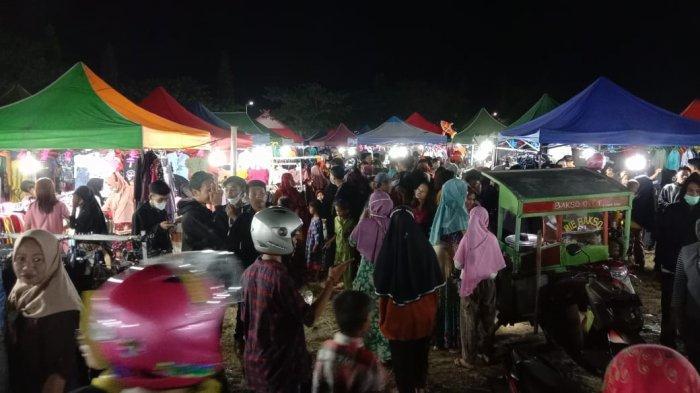Pengunjung Pasar Malam Jeneponto Cueki Corona