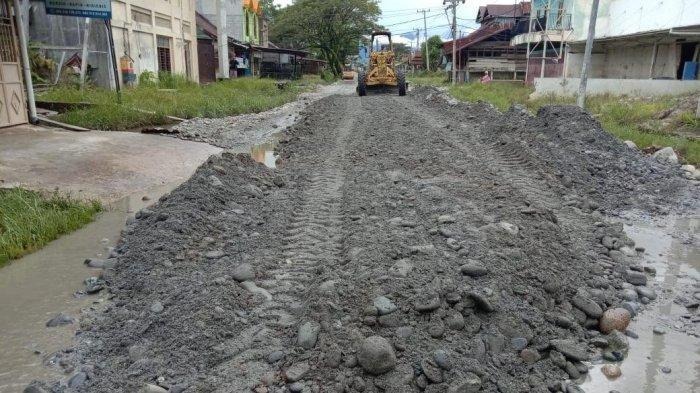 Ruas Jalan di Kota Masamba Luwu Utara Mulai Dibenahi