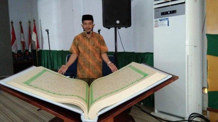 Hanya 8 Bulan, Penulis Alquran Raksasa Asal Pangkep Usman Pa'o Segera Selesaikan Karya Ketujuhnya