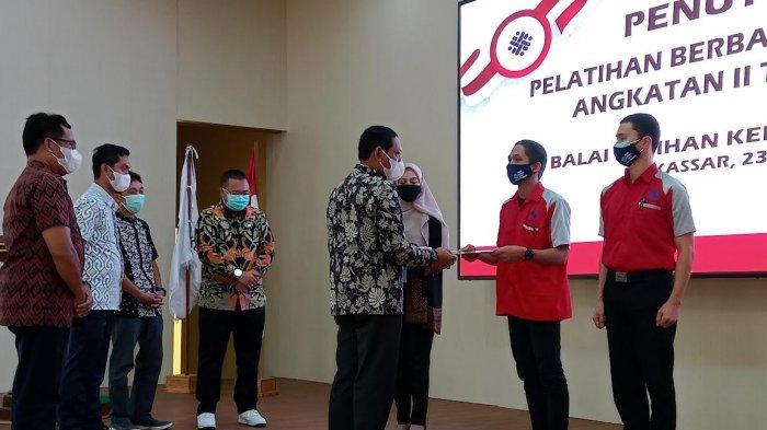 Kerjasama 6 Dunia Usaha dan Industri, 96 Peserta Lulus Pelatihan BLK Makassar