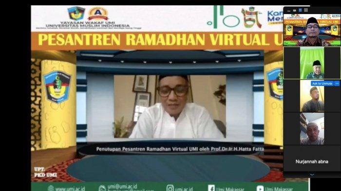 Dr Zain Irwanto Bahas Pendidikan Karakter di Penutupan Pesantren Ramadan Virtual UMI