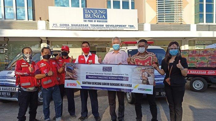 Bisnis Unit Lippo di Makassar dan Warga Tanjung Bunga Kirim Bantuan ke Masamba