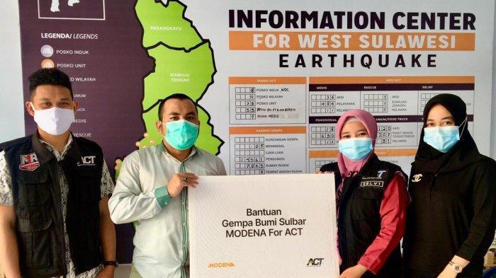 MODENA Kirim Bantuan untuk Korban Gempa Sulawesi Barat