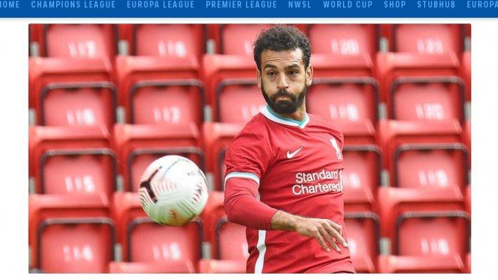 Penyerang Liverpool Mohamed Salah di Liga Inggris musim 2020-2021
