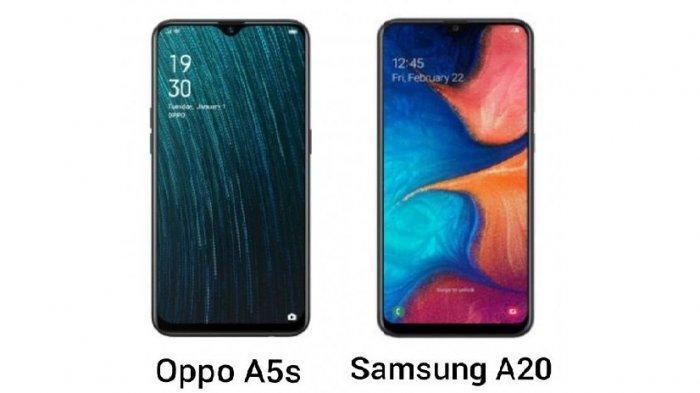 HP Harga Rp 1,9 Jutaan, Pilih Oppo A5s atau Samsung A20, Bandingkan Spesifikasi Lengkap di Sini