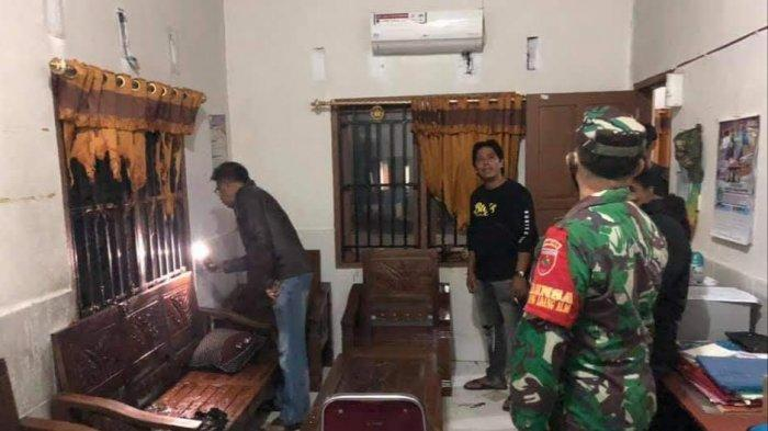 Dini Hari Tadi, Ada Percobaan Pembakaran di Kantor Desa Padangloang Alau Sidrap