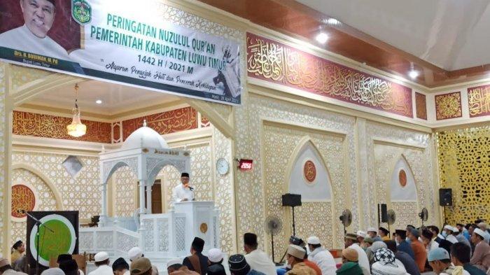 Malam Nuzulul Quran,Bupati Luwu Timur Ajak Masyarakat Perkuat Silaturahmi