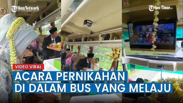 Video Viral Pernikahan Unik di Atas Bus yang Sedang Melaju