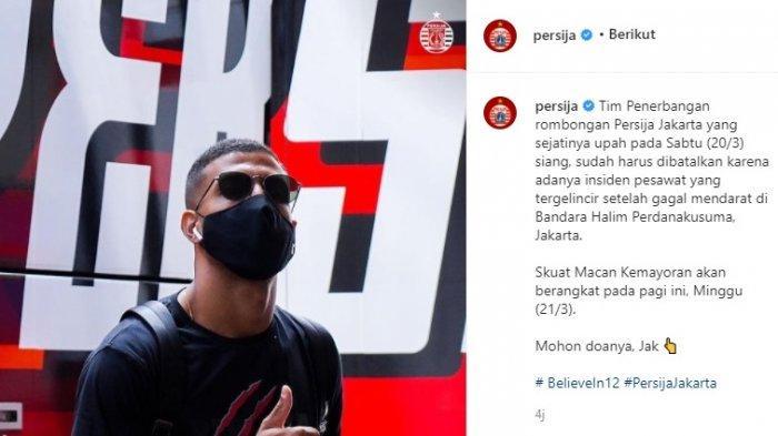 Persija Jakarta Jadi 'Korban' Pembatalan Berangkat Terbang ke Malang Gegara Pesawat Tergelincir