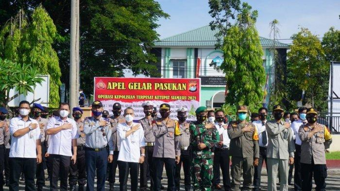 Cegah Mudik Lebaran, Personel Gabungan di Polman Gelar Apel Pasukan