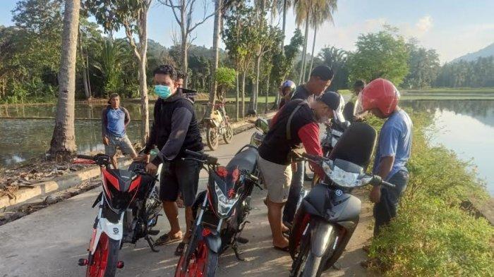 Polsek Tapango Polman Amankan Lima Sepeda Motor Saat Balapan Liar, Dikeluarkan Usai Lebaran