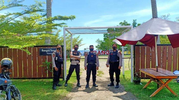 Awasi Prokes Covid-19, 112 Personel Polresta Mamuju Jaga 21 Lokasi Wisata Selama Libur Lebaran