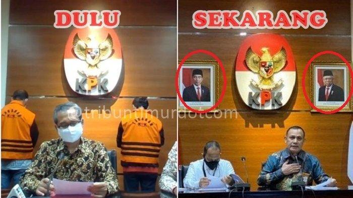 Pertama Kalinya KPK Pasang Foto Jokowi-Maruf di Presscon, DS: Perhatikan Betapa Sombongnya KPK Lama