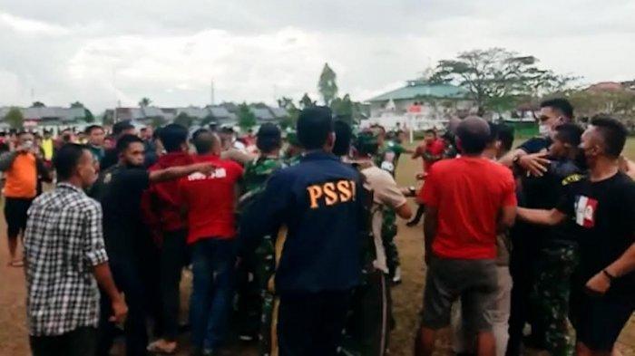 Pra Porprov Sepak Bola Palopo vs Lutim di Toraja Utara Ricuh, Suporter Nyaris Adu Jotos