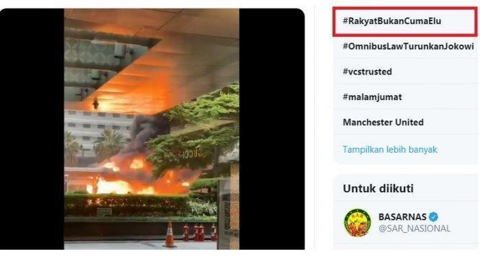 Awal Mula #RakyatBukanCumanElu Jadi Trending Topik saat Kerusuhan Demo UU Cipta Kerja