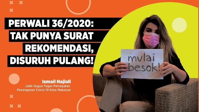 Mulai Besok, Pendatang Akan 'Diusir' Jika Masuk Makassar Tanpa Surat Rekomendasi Bebas Corona