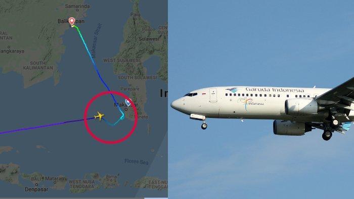 Cuaca Buruk, Pesawat Garuda Indonesia dari Jakarta ke Makassar - Palu Mendarat di Balikpapan, Lihat