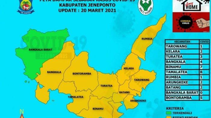 Kecamatan Tarowang dan Tamalatea Kini Zona Kuning Penyebaran Covid-19