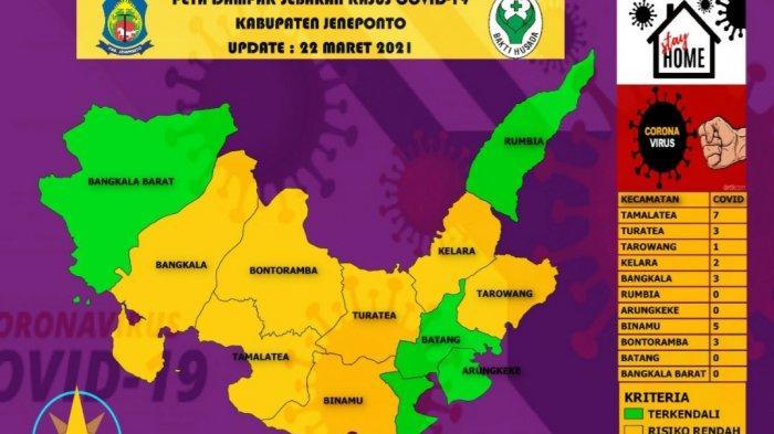 4 Kecamatan di Jeneponto Masuk Zona Aman Sebaran Covid-19