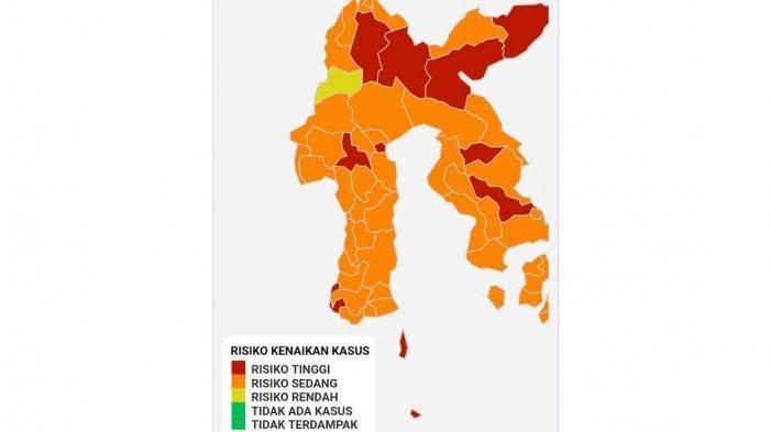 Sudah Tak Ada Zona Kuning Covid-19 di Sulsel, 5 Zona Merah dan 19 Zona Oranye