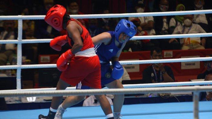 Tekuk Tuan Rumah, Petinju Putri Sulsel Melaju ke Semifinal PON XX Papua