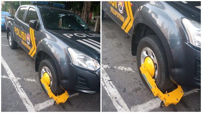 Petugas Dinas Perhubungan Berani Gembok Ban Mobil Polisi yang Melanggar, Lihat Respon Pejabat Polda