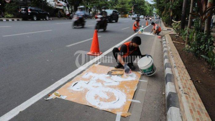FOTO: Sudah Ada Jalur Sepeda di Jl Sudirman Makassar