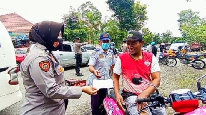 Pos Penyekatan Rantelemo Tana Toraja Juga Sasar Warga Tak Bermasker