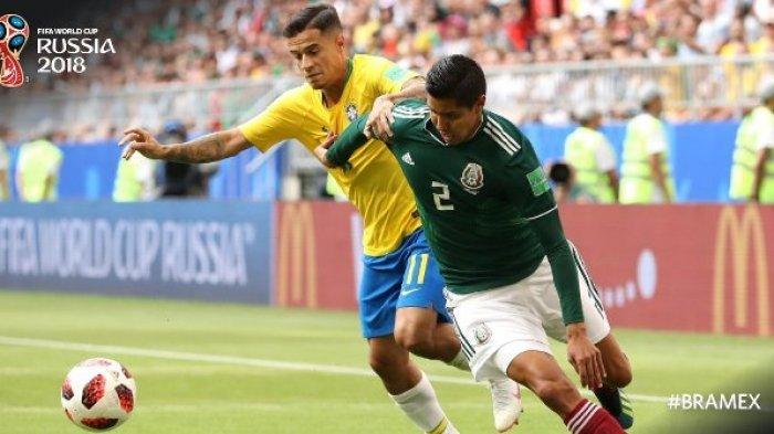 Cuplikan Gol Brasil vs Meksiko: Neymar dan Firminho Bawa Brasil ke Perempat Final
