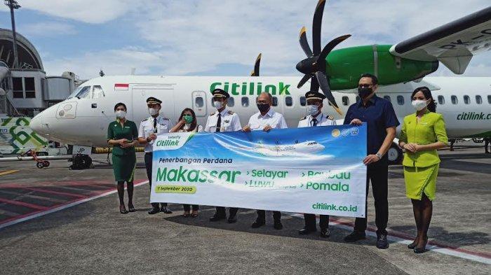 Citilink Terbang Perdana Rute Makassar-Palopo