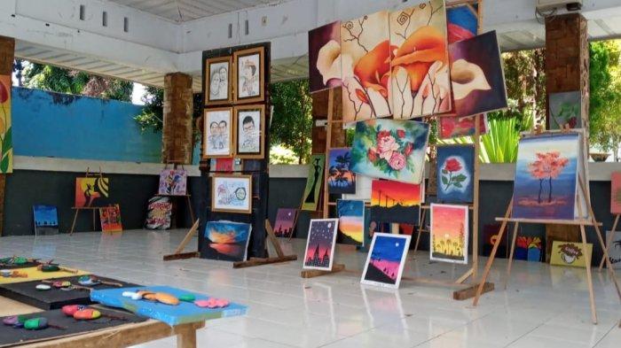Pinrang Art Space Pamerkan 50 Karya Lukis di Taman Pintar