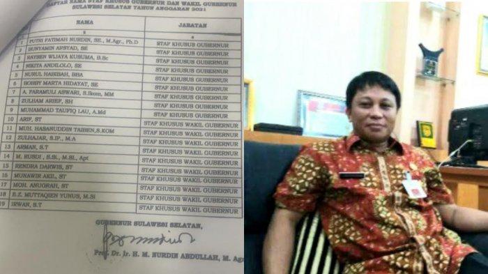 Berikut Sembilan Staf Khusus Gubernur Sulsel Dinonaktifkan, Gajinya Rp 8,8 Juta/Bulan