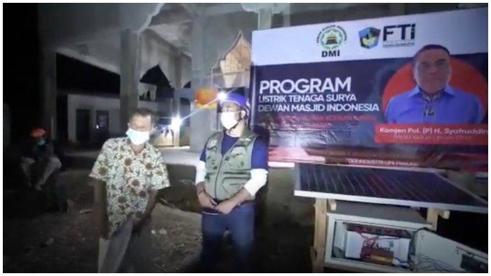 Komjen (Purn) Syafruddin Sumbang PLTS,3 Masjid di Ulumanda Majene Akhirnya Dialiri Lagi Listrik