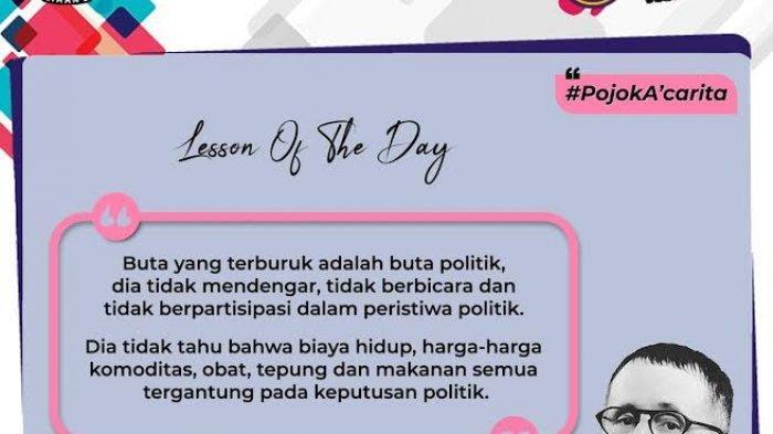 Edukasi Pemilih, KPU Makassar Hadirkan #pojokA'carita di Akun IG