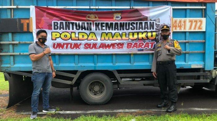 Polda Kalteng dan Maluku Kirim 7 Truk Bantuan ke Korban Gempa Sulbar