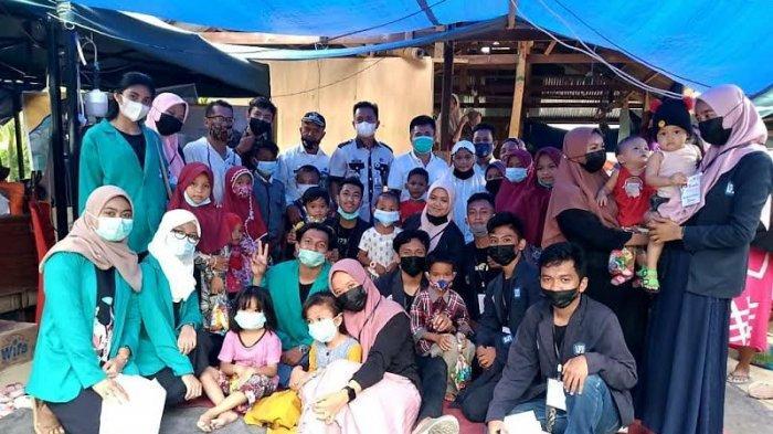 Polinas Tamalanrea Salurkan Bantuan dan Beri Trauma Healing ke Korban Gempa Sulbar