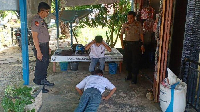Polisi Hukum Push Up Siswa di Masamba Luwu Utara yang Berkeliaran Saat Jam Belajar