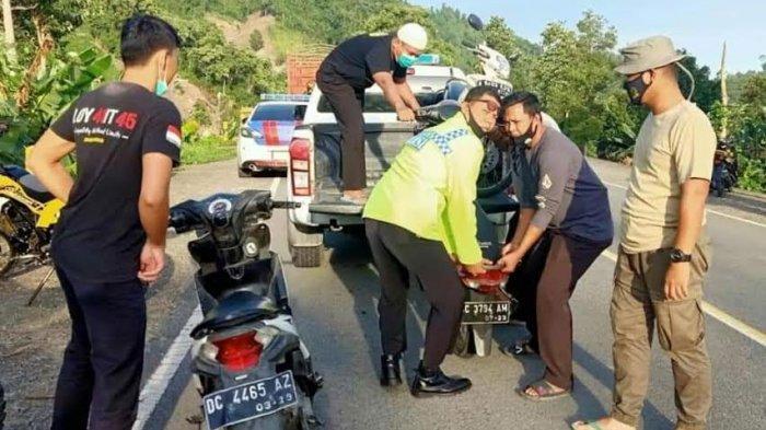 Balapan Liar, 17 Kendaraan di Kalukku Mamuju Diamankan Polisi