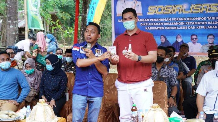 Wakil Ketua DPRD Sulsel Syaharuddin Alrif Bagi Tips ke Warga Pangkep Cara Bertani Porang
