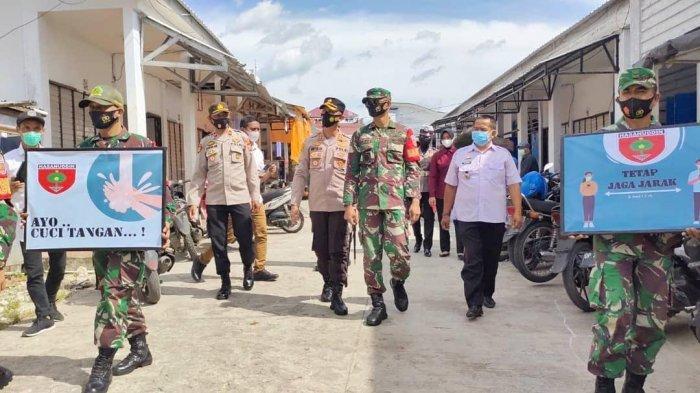 Dandim dan Kapolres Enrekang Kompak Laksanakan Operasi Yustisi Penertiban Prokes