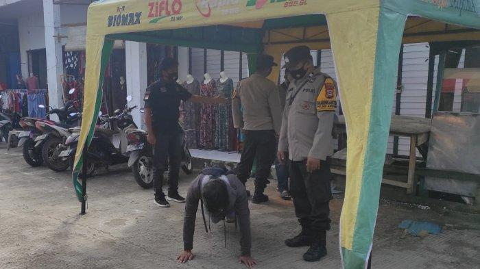 Operasi Yustisi, Polsek Anggeraja Polres Enrekang Hukum Warga Yang Tak Pakai Masker