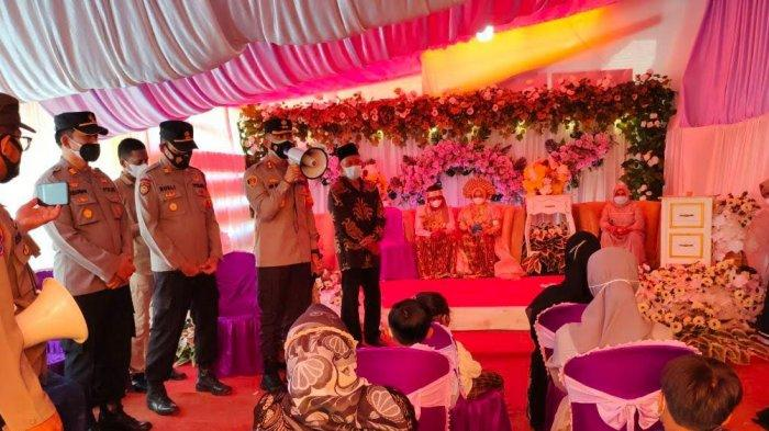 Kapolres Enrekang Tegur Pelaksana Pesta Pernikahan yang Langgar Prokes
