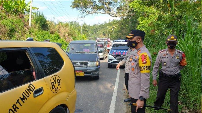 6 Hari Operasi Penyekatan Mudik, Polres Enrekang Paksa 46 Kendaraan Putar Balik