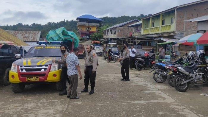 Personel Polsek Alla Enrekang Gelar Patroli di Pasar Agro, Ini Tujuannya