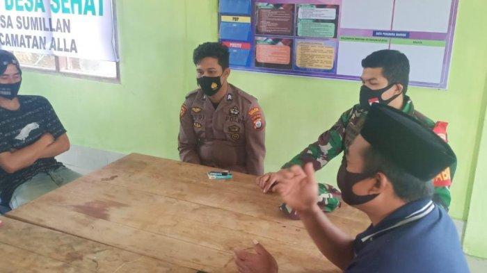 Polsek Alla' Enrekang Sosialisasi Pemberlakuan PPKM Skala Mikro di Desa Sumillan