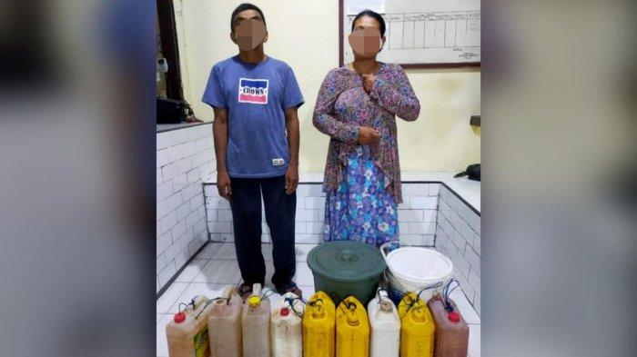 Polisi Selayar Amankan Dua Orang Penampung Ratusan Liter Ballo