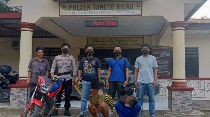 Curi Motor di Barru, Empat Warga Pangkep Ditangkap Polisi