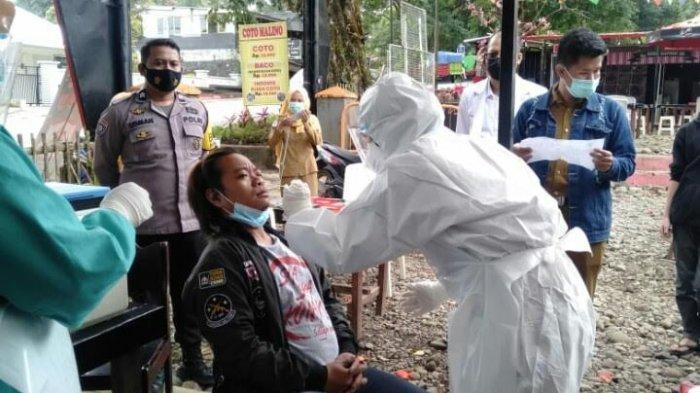 Pengunjung Langgar Prokes, Karyawan Malino Food City Diswab Antigen